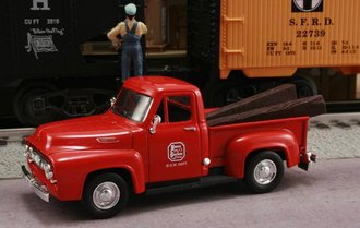 "1953 Ford F-100 Pickup ""Kansas City Southern Railroad M.O.W. Dept."" (Red)"