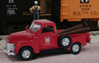 "1953 Chevy 3100 Pickup ""Long Island Railroad M.O.W. Dept."" (Red)"