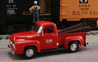 """1953 Ford F-100 Pickup """"L&N Railroad M.O.W. Dept."""" (Red)"""