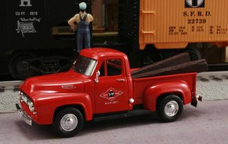 "1953 Ford F-100 Pickup ""Texas & Pacific Railroad M.O.W. Dept."" (Red)"