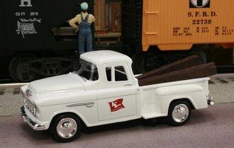 "1955 Chevy Pickup ""Ann Arbor Railroad"" (White)"