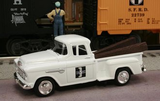 "1955 Chevy Pickup ""Boston & Maine Railroad"" (Square B&M Logo) (White)"
