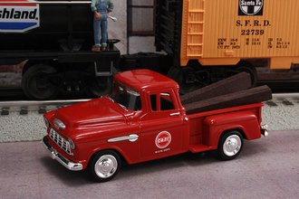 """1955 Chevy Pickup """"Chicago & Eastern Illinois Railroad M.O.W. Dept."""" (Red)"""