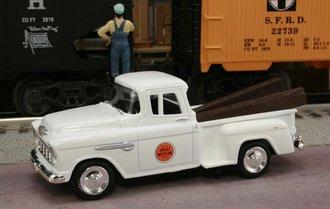 "1955 Chevy Pickup ""Chicago Great Western Railway"" (White)"