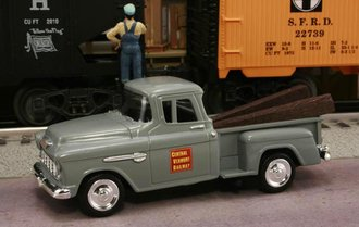"""1955 Chevy Pickup """"Central Vermont Railway"""" (Gray)"""