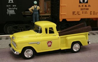 "1955 Chevy Pickup ""Pennsylvania Railroad M.O.W. Dept."" (MOW Yellow)"