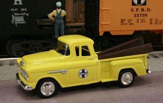 "1955 Chevy Pickup ""Santa Fe Railway M.O.W. Dept."" (MOW Yellow)"