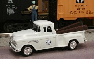 "1955 Chevy Pickup ""Southern Pacific Railroad"" (White)"
