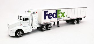 "1:87 Kenworth T-600A w/Van Trailer ""FedEx Ground"""