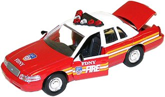 FDNY Ford Fire Chief Car & Hydrant Set