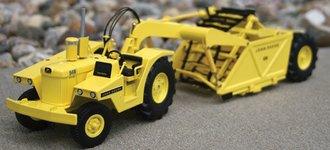John Deere 840 Diesel Industrial Tractor w/400 Scraper