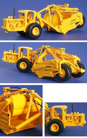 1:50 LeTourneau Super C Scraper (Closed Cab) (Yellow)