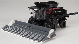 Gleaner S98 Combine w/Dual Wheels & Corn Head (Stealth Black)
