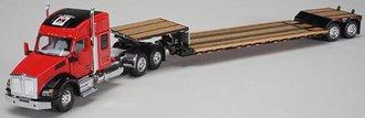 """1:64 Kenworth T880 Sleeper Cab w/Fontain Renegade Lowboy Trailer """"Farmall"""""""
