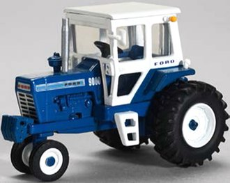 1:64 Ford 9000 Narrow Front Tractor w/Cab (Blue/White)