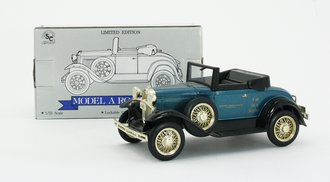 1:25 Ford Model A Roadster (Teal) (Bank )