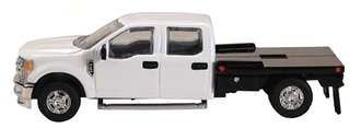 1:64 Ford F-250 Flatbed (White)