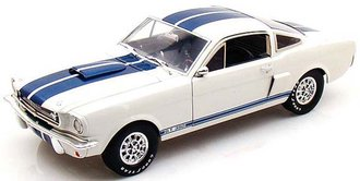 1966 Shelby GT350 (White w/Blue Stripes) w/Carroll Shelby Signature