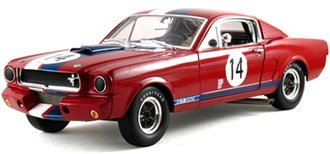 """1:18 1966 Shelby GT350R """"#14"""" (Red w/White & Blue Stripes)"""