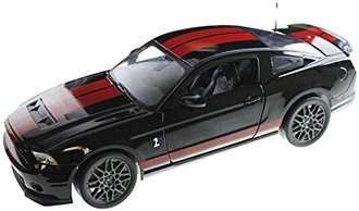 1:18 2013 Ford Shelby GT500 (Black w/Red Stripes)