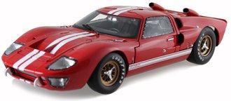 1:18 1966 Ford GT-40 MK II (Red w/White Stripes)