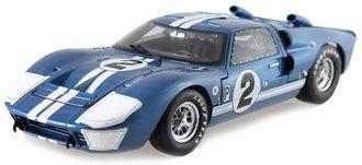 "1:18 1966 Ford GT-40 MK II ""Sebring #2"" (Blue w/White Stripes)"