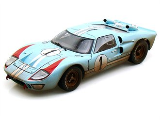"1966 Ford GT-40 MK II ""LeMans #1"" (Gulf Blue w/White Stripes) (After Race)"