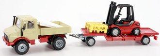 Unimog w/Forklift & Trailer
