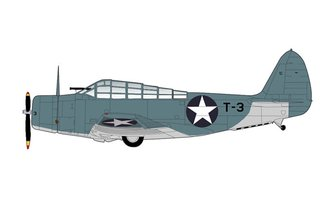 "TBD-1 Devastator USN VT-8 ""Black T-3, William Evans"" USS Hornet, Battle of Midway, June 1942"