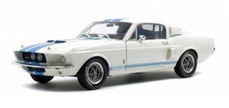 1967 Shelby Mustang GT500 (White w/Blue Stripes)