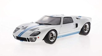 1968 Ford GT-40 MK1 Widebody (White w/Blue Stripes)