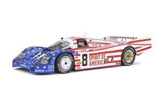 """1:18 1986 Porsche 954 LH """"Spirit of America #8"""" (Red/White/Blue)"""