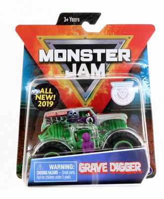 1:64 Grave Digger Monster Truck (Silver)