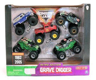 1:64 Grave Digger Monster Truck Retro Edition (5-Pack)
