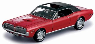 1:18 1968 Mercury Cougar XR7G (Red)
