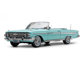 1961 Chevrolet Impala Open Convertible (Seafoam Green)