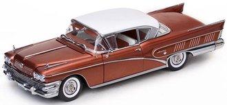 1958 Buick Limited Riviera Coupe (Garnet Red/Glacier White)