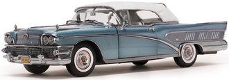 1:18 1958 Buick Limited Closed Convertible (Blue Mist)