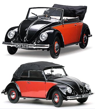 1949 Volkswagen Beetle Convertible (Black/Red)