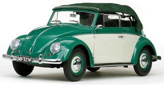 1:12 1949 Volkswagen Käfer Cabriolet (Dark Green)