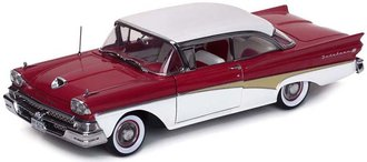 1958 Ford Fairlane 500 Hardtop (Torch Red/Colonial White)