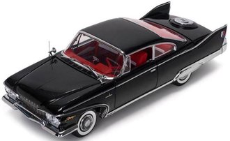 1:18 1960 Plymouth Fury Hard Top (Jet Black w/Red Interior)
