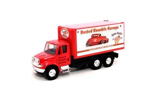 "1:64 International Box Truck ""Busted Knuckle Garage"" (Red)"