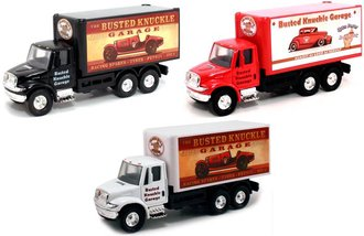 "1:64 International Box Truck ""Busted Knuckle Garage"" (Set of 3)"