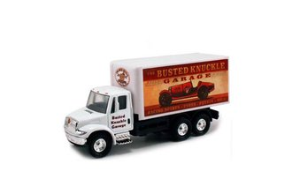 "1:64 International Box Truck ""Busted Knuckle Garage"" (White)"