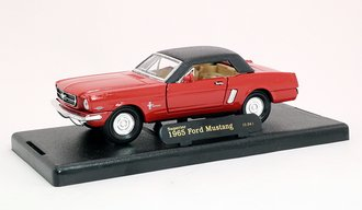 1965 Ford Mustang Closed Convertible (Red/Black)