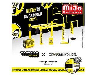 "1:64 Garage Tools set w/4 Post Lift ""Mooneyes"""