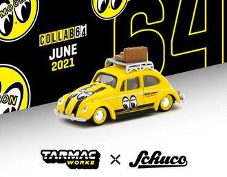 """1:64 Volkswagen Beetle w/Roof Rack & Luggage """"Mooneyes"""""""