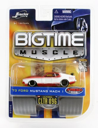 Big Time Muscle '73 Ford Mustang Mach 1 (White/Red)