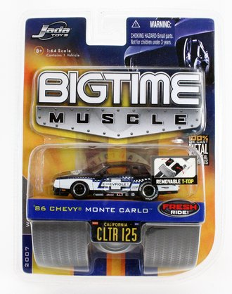 """Big Time Muscle '86 Chevy Monte Carlo """"#86"""" (Black/White)"""